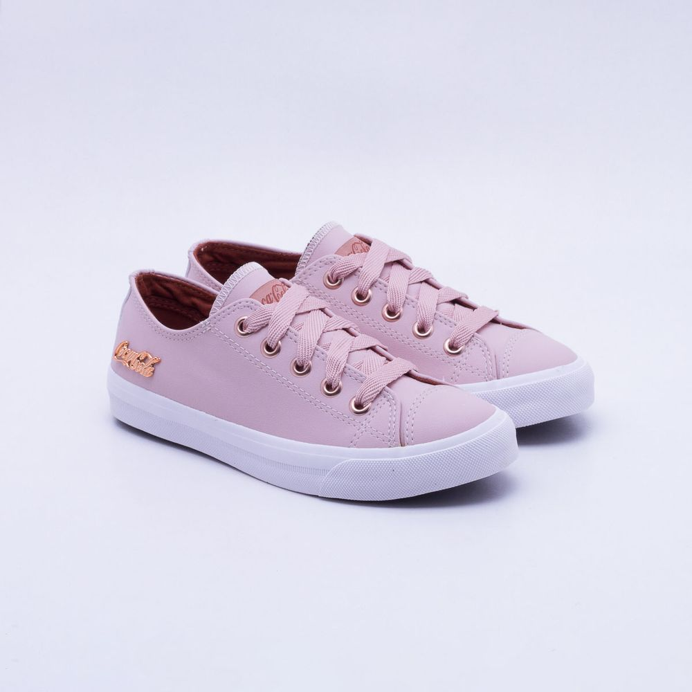 658a1b5bd8 Tênis Coca-Cola Shoes Basket Floater Rosa Feminino. R  189 ...
